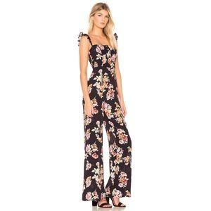 Flynn Skye Bardot Floral jumpsuit size small